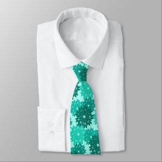 Modern Floral Kimono Print, Turquoise, Teal & Aqua Tie