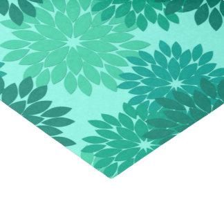 Modern Floral Kimono Print, Turquoise, Teal & Aqua Tissue Paper