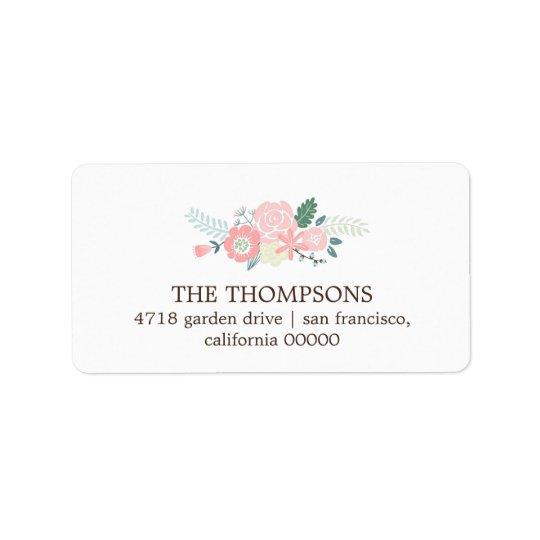 Modern Floral Label