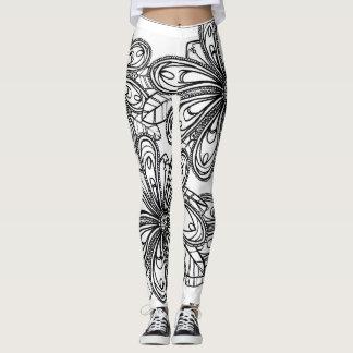 Modern Floral Leggings