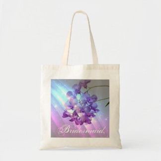 modern floral lilac purple orchid bridesmaid