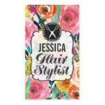 Modern Floral Painting Hair Stylist Appointment Pack Of Standard Business Cards