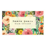 Modern Floral Painting Hair Stylist Template Pack Of Standard Business Cards