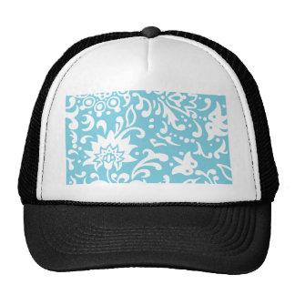 Modern Floral Pattern Gift Retro Baby Blue Hat