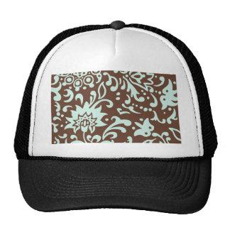 Modern Floral Pattern Gift Retro Baby Green Brown Cap