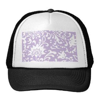 Modern Floral Pattern Gift Retro Baby Mauve Mesh Hats