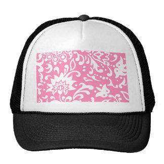 Modern Floral Pattern Gift Retro Baby Pink Cap