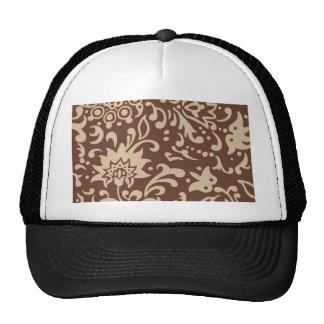 Modern Floral Pattern Gift Retro Beige Brown Cap