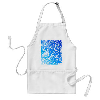 Modern Floral Pattern Gift Retro Blue Aprons