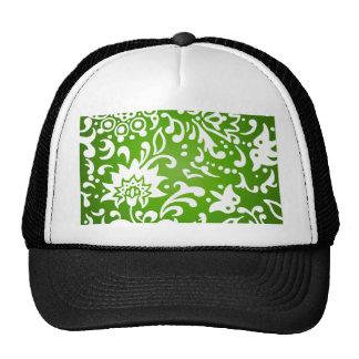 Modern Floral Pattern Gift Retro Garden Green Hat