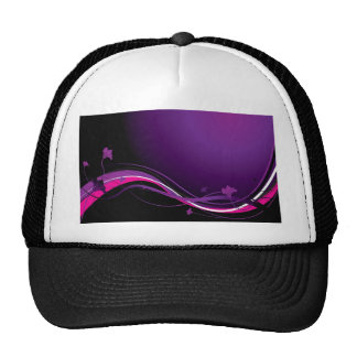 Modern floral purple trucker hat