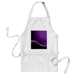 Modern floral purple standard apron