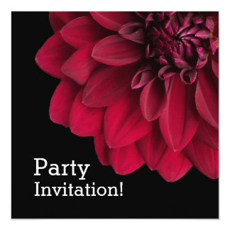 Modern Floral Red Dahlia Flower Card