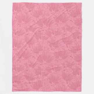 Modern Floral Red Fleece Blanket