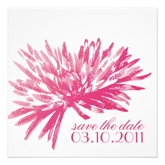 Modern Floral Save the Date Cards Invitations