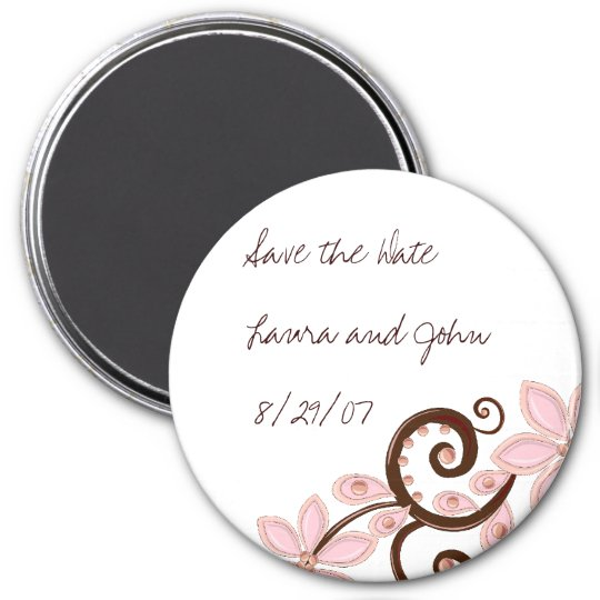 Modern Floral Save the Date Magnet