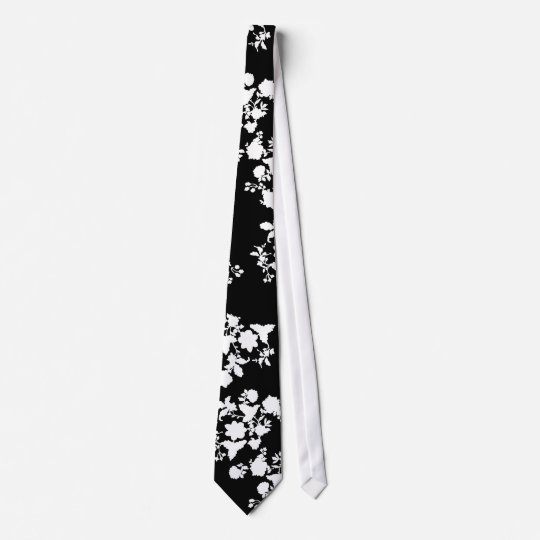 modern floral silhouette tie