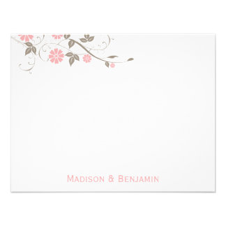Modern Floral Thank You Note - Soft Pink Personalized Invitations
