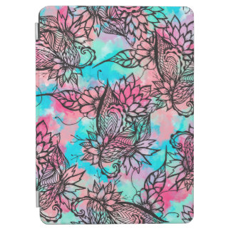 Modern floral watercolor hand drawn fall trend iPad air cover