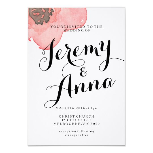 Modern floral Wedding Engagement Invitation