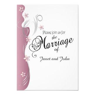 Modern Floral Wedding | Pink Tourmaline & Silver Card