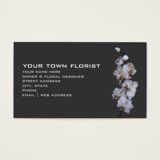 Modern Florist Business Card - Orchids