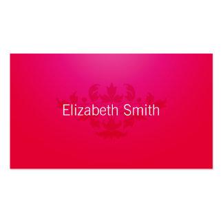 Modern Flourish Pink and Brown Business Card