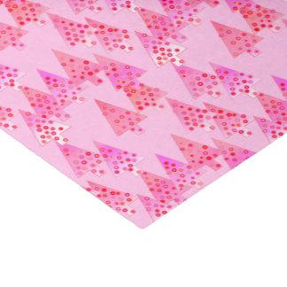 Modern flower Christmas trees - pastel pink Tissue Paper