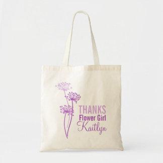 Modern flower cows parsley purple flower girl bag