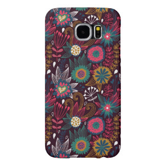 Modern Flower Pattern Samsung Galaxy S6 Case
