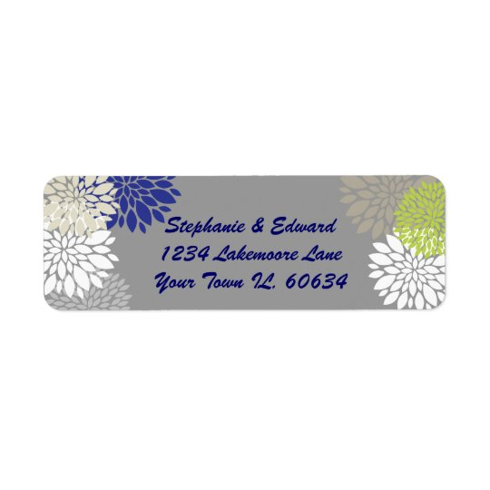 modern flowers label