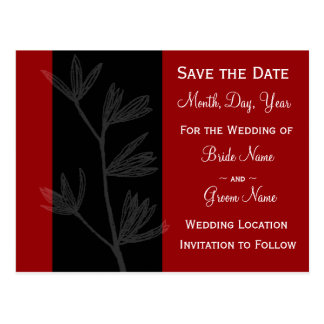 "Modern Foliage ""Save the Date"" Postcard"