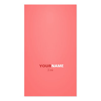 Modern font in two colors with ( Light Coral ) Pack Of Standard Business Cards