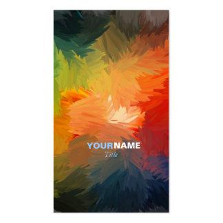 Modern Font Pack Of Standard Business Cards