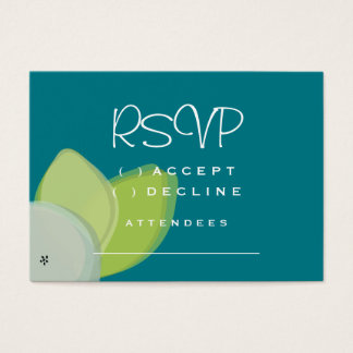 Modern Foral Watercolor Wedding Collection Business Card