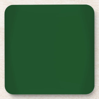 Modern Forest Green Customizable Drink Coaster