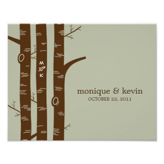 Modern Forest Personalized Wall Art - Sage - Poster