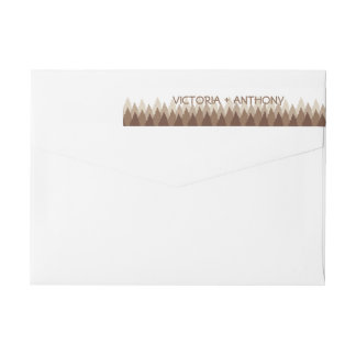 Modern Forest Range Woodland Wedding Wrap Around Label