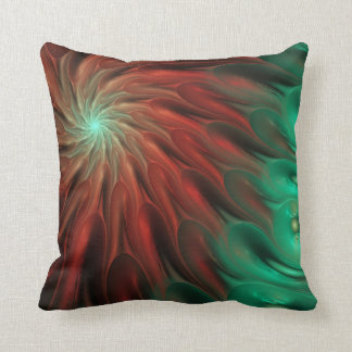 Modern fractal abstract Throw pillow