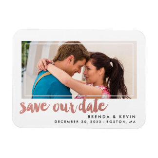 Modern Frame | Photo Save the Date Magnet