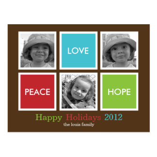 Modern Frames Christmas Card /Holiday Postcard Post Cards