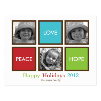 Modern Frames Christmas Card /Holiday Postcard Postcards