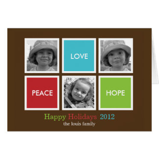 Modern Frames Christmas Holiday Card Greeting Card