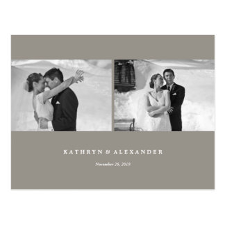 Modern Frames Thank You Photo Wedding Postcard