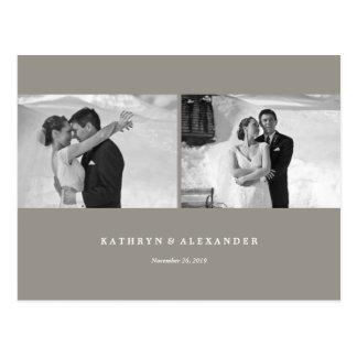 Modern Frames Thank You Photo Wedding Postcard