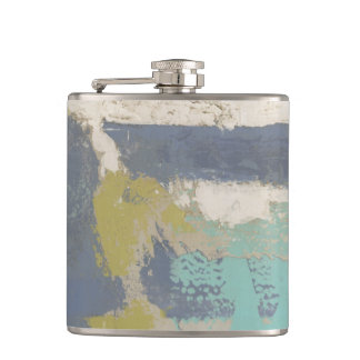 Modern Free Expression Painting Hip Flask