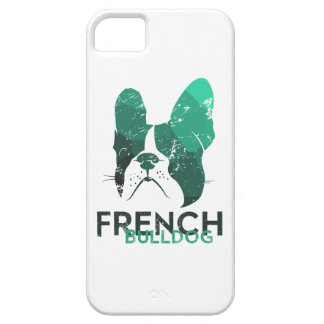 Modern French Bulldog in green/mint color iPhone 5 Cover