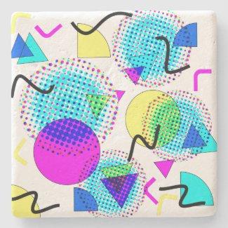 Funky 80s Memphis Pattern Coaster