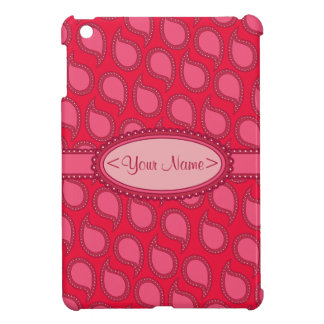 Modern Funky Paisley Pattern in Pinks iPad Mini Covers