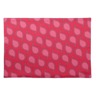 Modern Funky Paisley Pattern in Pinks Placemat